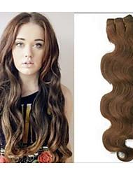 1pc / lot 20 pulgadas / 50 cm 150 cm de largo 100g / pack multicolors extensión onda del cuerpo de la trama del pelo humano grade5a