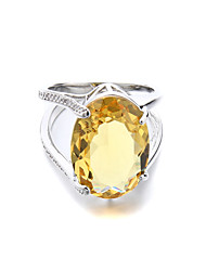 Brass New Ladies Fashion CZ Ring(More Colors)