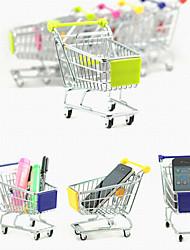 mini almacenamiento lindo compras simulación escritorio carrito aleación (colores aleatorios)