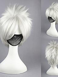14inch naruto-hatake kakashi silvry animado gris cosplay peluca