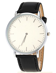 Men's Ultra Slim Case Leather Band Quartz Wrist Watch Cool Watch Unique Watch