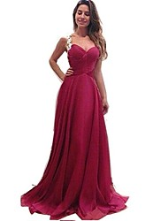 Women's Sexy Lace Red Sleeveless Party Dresses
