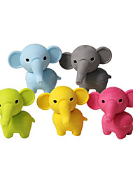 2pcs Cute Elephant Rubber Detachable DIY Eraser School Student Children Prizes Gift Toy Random Color