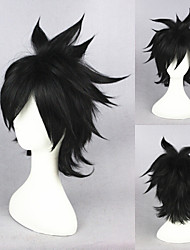 14inch Fairy Tail-Gray Fullbuster Black Anime Cosplay Wigs