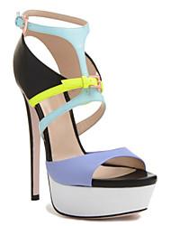 Sandálias (Azul) - MULHERES Saltos - Salto Alto - Pele