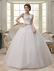 Ball Gown Sweep/Brush Train Wedding Dress -Jewel Tulle