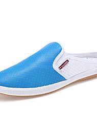 Chaussures Hommes - Décontracté - Bleu / Blanc / Beige - Cuir - Sabots & Mules