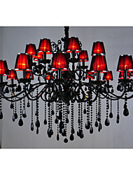 Chandeliers Crystal Traditional/Classic Living Room Crystal,24 Light Red