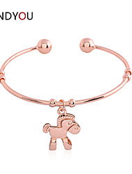 Women's Cuff/Charm/Chain/Tennis/I.D. Bracelet Cubic Zirconia/Alloy/18K Gold Plated Crystal/Cubic Zirconia