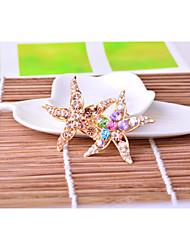 Full diamond jewelry starfish Brooch