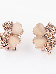 Earring Drop Earrings Jewelry Women Alloy / Rhinestone 1set Gold