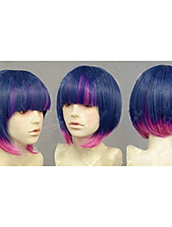 Fashion Mix-color Synthetic Hair Wig Short Straight  Wigs Women's Sexy Wigs Party Wigs Full Wig