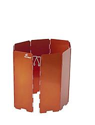 Feu d'érable fmw-508 8 morceaux de réchaud de camping en plein air cuisinière à gaz pliant portable déflecteur panneau orange vent
