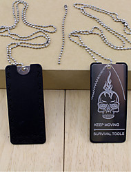 Cartão de Crédito Ferramenta de Sobrevivência/Multitools - DE Plástico/aço inoxidável - prata