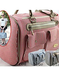 Striped Pattern Designer Dog Carrier Bag for Your Pets (Assorted Colors)