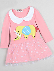 Kid's Casual/Cute Dresses (Cotton)