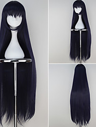 Absolute Duo Tachibana Tomoe Girl's Extra Long Straight Dark Purple Anime Cosplay Wig