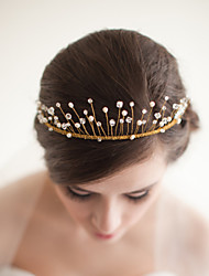 Lovely Women Pearl/Crystal Tiaras/Headbands With Wedding/Party Headpiece By Hand