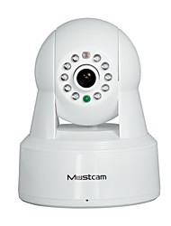 Mustcam Wireless Network IP Camera with IR-Cut H.264 WPS Alarm Micro-SD Storage Two-way Audio OnVif