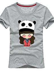 Ms. Couples summer short sleeve T-shirt panda hat # 063