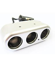 SHUNWEI® Car Electronics Univesal 12-24V 1-to-3 Cigarette Lighter Power Socket