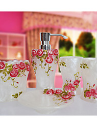 The Rosary Pattern Bathroom Ware 5 Sets/White
