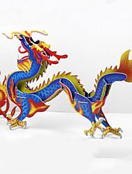 diy dragão chinês 3d puzzle em forma