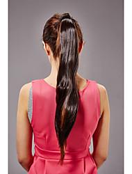 55 centímetros de fibra sintética resistente cabelo rabo de cavalo em linha reta longa de linho bb clip-on mulheres