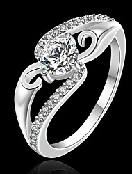 Кольца на вторую фалангу Серебрянное покрытие Имитация Алмазный Мода Серебряный Бижутерия Для вечеринок Повседневные 1шт