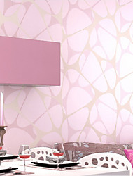 wallpaper géométriques Birds Nest modèles avec finition poudre dorée mur de couleur rose domaines de l'art non-tissé mur de papier