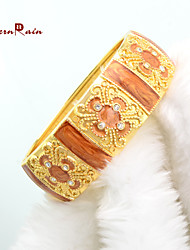 WesternRain Bijouterie Hot Xmas Day Gift 18K Gold Plated Jewelry Bracelet High Quality Women Vintage Bangle