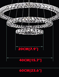 LED Pendant Lights Lighting Modern D204060 3 Rings Three Sides K9 Crystal Indoor Ceiling Lights Lamp Fixtures