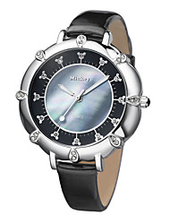 Great anti-scrap glass shell crystal dial clear scale plating bezel alloy case leather strap quartz watches DC-51010