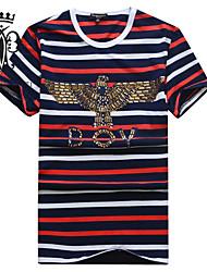 occasionnels / tailles plus de yhwz®men imprimer manches courtes T-shirts réguliers / t-shirts (coton) plus de couleurs disponibles