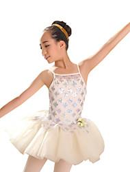 Vestidos (Blanco y plata , Chinlon/Nylón/Lentejuela/Tul , Ballet) - Ballet - para Mujer/Niños