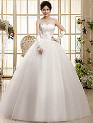Ball Gown Wedding Dress Sweep / Brush Train / Floor-length Sweetheart Tulle with