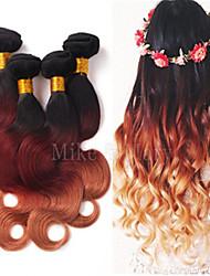 3pcs / lot brasilianische ombre Haar Körper drei Ton ombre / 33/27 Farbe 1b unbearbeitete Haare