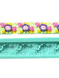 beira da flor colar de goma fondant moldes do bolo de chocolate do molde para a ferramenta de decoração do bolo açúcar cozinha baking