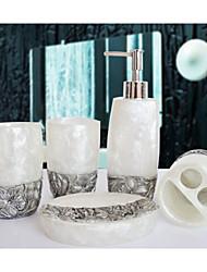The Desert Rose Bathroom Ware 5 Sets/White