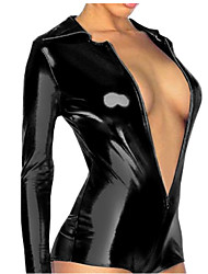 Women's Black Jumpsuits , Sexy Long Sleeve