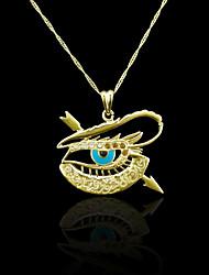 18K Real Gold Plated Allah Muslim Evil Eye Color Pendant 4.6*4.8CM
