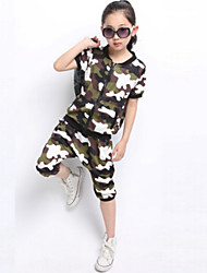 Girl's Summer Clothing Sets(Cotton Blends)