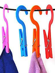 2pcs Clip Hangers Convenient Home Laundry Clothes Socks Hook Towels Clips
