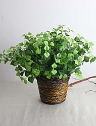 "9.84"" Silkprint Artificial Green Plant 1 bunch"