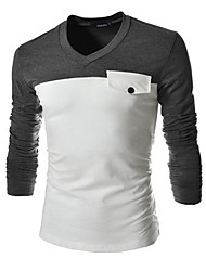 Doyess Men's Casual Round Long Sleeve T-Shirts