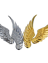 2PCS Fashion Cute Car Styling Bumper Stickers Eagle Wings Sticker Chrome Badge Emblem Decal