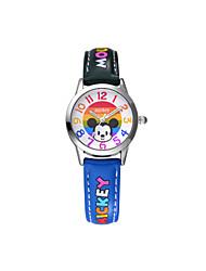 venta caliente famosa marca disney alta calidad de la PU de los niños de cuarzo banda de dibujos animados Wacthes dc-54091
