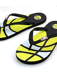 Men's Shoes Outdoor/Athletic/Casual Rubber Slippers Blue/Yellow/Green/Red/Gray/Burgundy Flip Flops