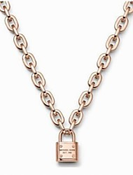 Romantic Lock Pendant Necklace
