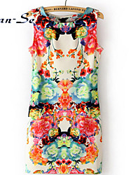 BAOTU®Women sleeveless printing fashion dress